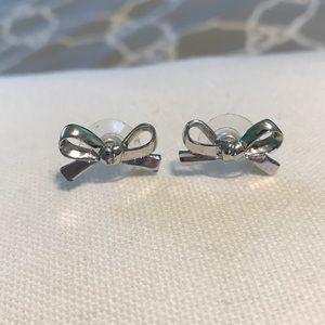Kate Spade Silver Bow Earrings